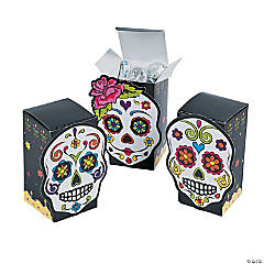 Cardboard Day of the Dead Favor Boxes