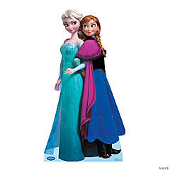 Cardboard Disney Frozen Elsa & Anna Stand-Up