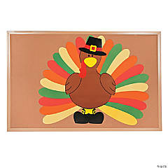 Cardboard Do It Yourself Turkey Bulletin Board Set