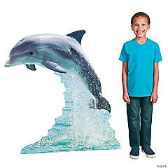 Cardboard Dolphin Stand-Up
