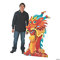 Cardboard Dragon Head Stand-Up