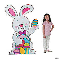 Cardboard Easter Bunny Stand-Up