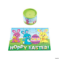 Cardboard Easter Puzzles in Cans PDQ