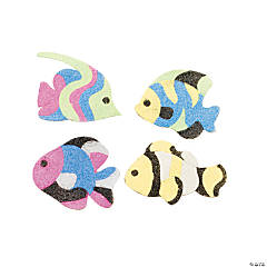 Cardboard Fish Sand Art Magnet Craft Kit