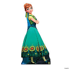 Cardboard Frozen Fever® Anna Hugging Stand-Up