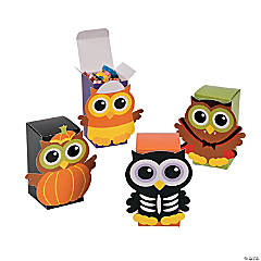 Cardboard Halloween Owl Favor Boxes