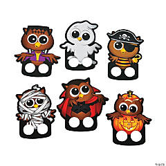 Cardboard Halloween Owl Finger Puppets