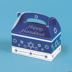 Cardboard Hanukkah Treat Boxes