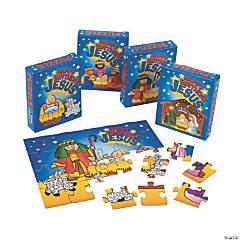 "Cardboard ""Happy Birthday Jesus"" Puzzles"