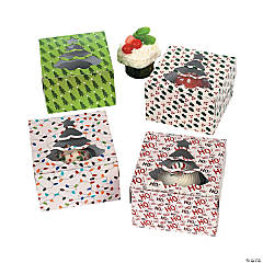 Cardboard Holiday Cupcake Boxes