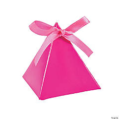 Cardboard Hot Pink Triangle Favor Boxes