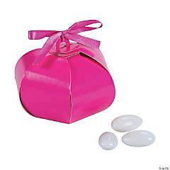 Cardboard Hot Pink Wedding Sphere Favor Boxes