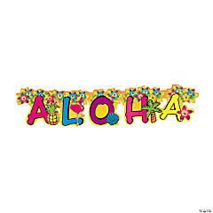 Cardboard Jointed Aloha Banner