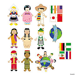 Cardboard Jumbo Kids Around the World Cutouts