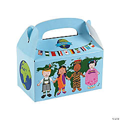 Cardboard Kids Around the World Treat Boxes