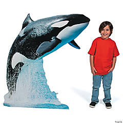 Cardboard Killer Whale Stand-Up