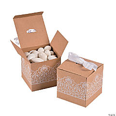 Cardboard Kraft Lace Favor Boxes