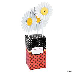 Cardboard Ladybug Centerpiece