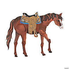 Cardboard Large Brown Horse Jointed Cutout