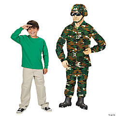 Cardboard Large Jointed Camouflage Army Guy Cutout