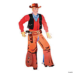 Cardboard Large Jointed Cowboy Cutout