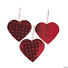 Cardboard Laser Print Heart-Shaped Cutouts