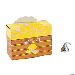 Cardboard Lemonade Party Favor Boxes