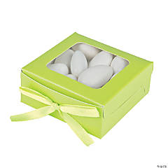 Cardboard Lime Favor Shadow Boxes