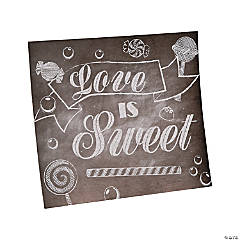 Cardboard Love Is Sweet Table Sign