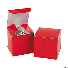 Cardboard Mini Red Gift Boxes