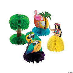 Cardboard Mini Tropical Decorations