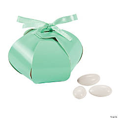 Cardboard Mint Green Wedding Sphere Favor Boxes