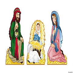 Cardboard Nativity Family Stand-Ups