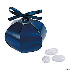 Cardboard Navy Wedding Sphere Favor Boxes