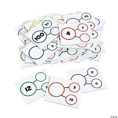 Cardboard Number Bond Dry Erase Card Set