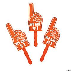 Cardboard Orange We're #1 Finger Fans