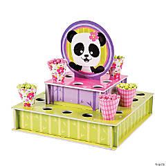 Cardboard Panda Party Tray with Cones