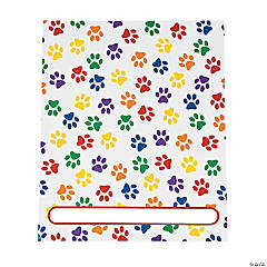 Cardboard Paw Print Patterned Pocket Folders