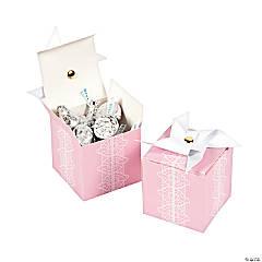 Cardboard Pink Pinwheel Favor Boxes