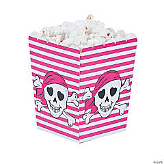 Cardboard Pink Pirate Popcorn Boxes