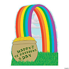 Cardboard Pot of Gold with Rainbow Stand-Up