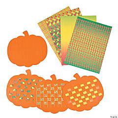 Cardboard Pumpkin Weaving Mats