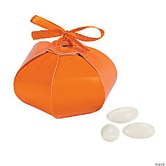 Cardboard Pumpkin Wedding Sphere Favor Boxes