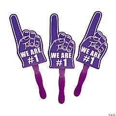 Cardboard Purple We're #1 Finger Fans