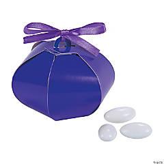Cardboard Purple Wedding Sphere Favor Boxes