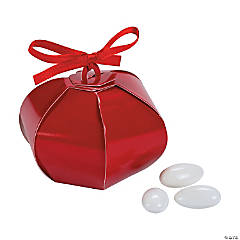 Cardboard Red Wedding Sphere Favor Boxes