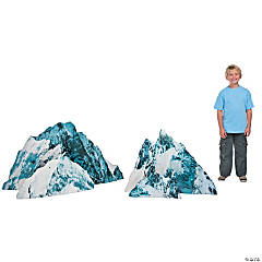 Cardboard Snow-Capped Rocks Stand-Ups