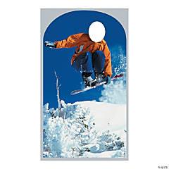 Cardboard Snowboarding Stand-In