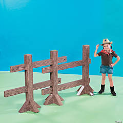 Cardboard Split Rail Fence Post Set