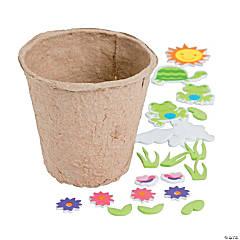 Cardboard Spring Character Flower Pot Craft Kit